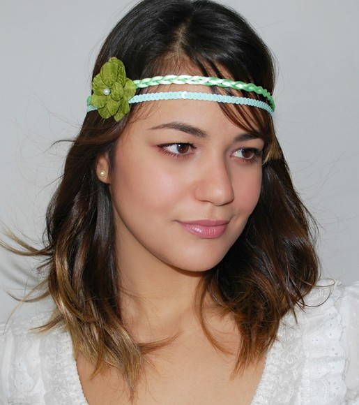 Headband HIPPIE CHICK verde