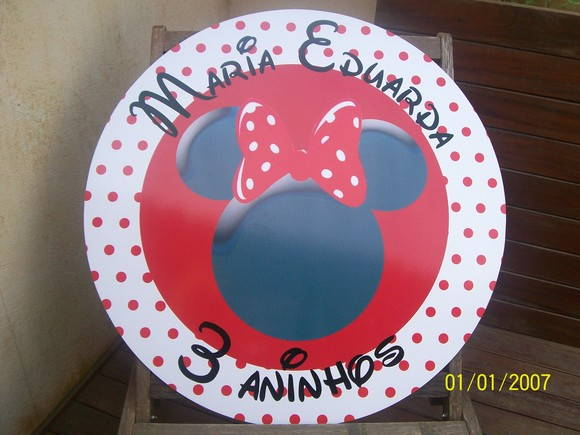Placa pvc minnie