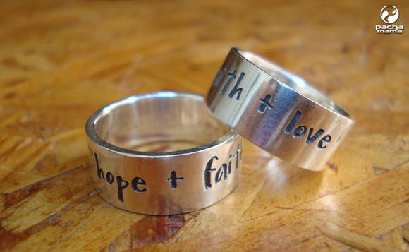 Anel Hope + Faith + Love