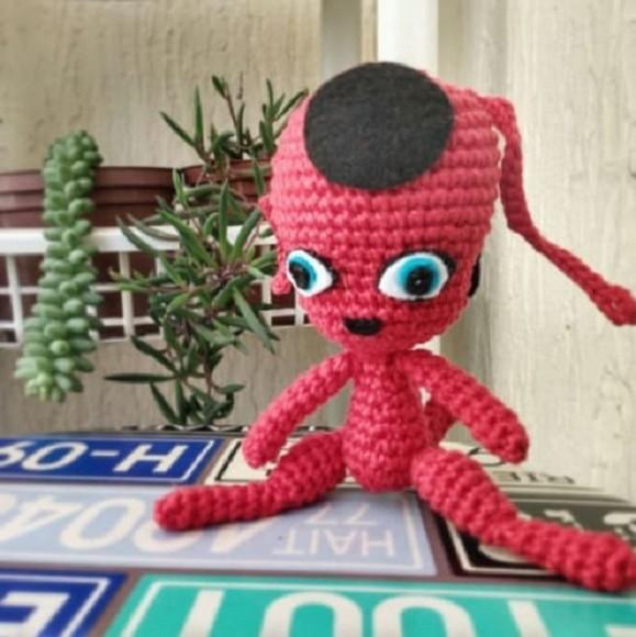 Tikki miraculous ladybug amigurumi by Miidita | Ladybug crafts ... | 580x579