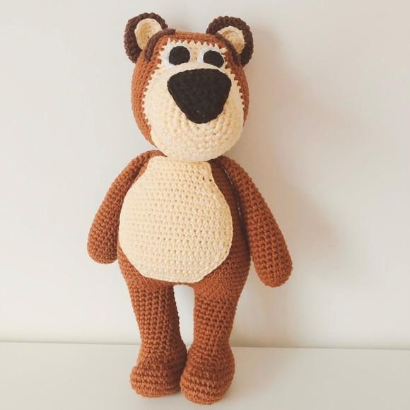 Urso Amigurumi Brian / por AtinaReisHandmade | Ursos de pelúcia de ... | 580x580