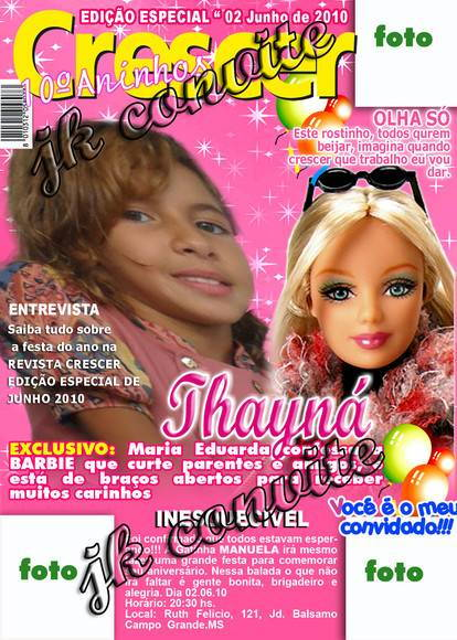 capa de revista da barbie
