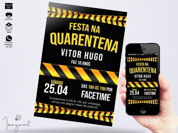 Convite Quarentena | Elo7