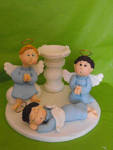 Enfeite De Bolo ~ Enfeite de bolo para Batizado Azul Artitati Atelier Elo7