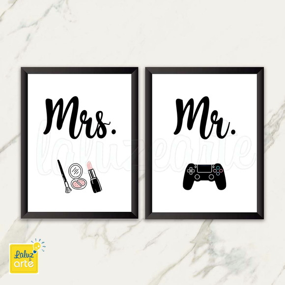 Quadro Mr- Mrs