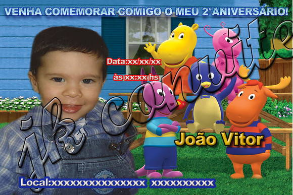 convite do backyarding