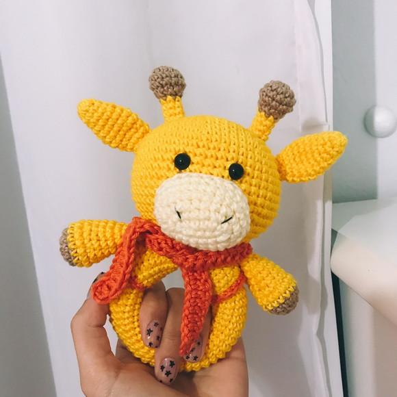 Girafa colorida com chocalho.... - Patys Crocheteria - Amigurumis ... | 580x580