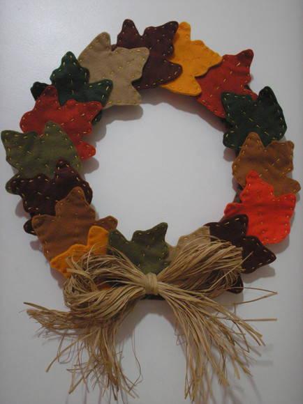 Guirlanda de Natal Folhas de Outono no Elo7 MICE CANELAS (17736E) -> Decoração Festa Folhas De Outono