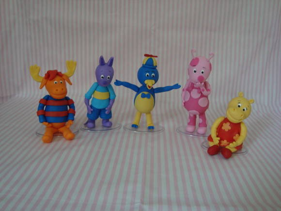 Turma do Backyardigans para topo do bolo