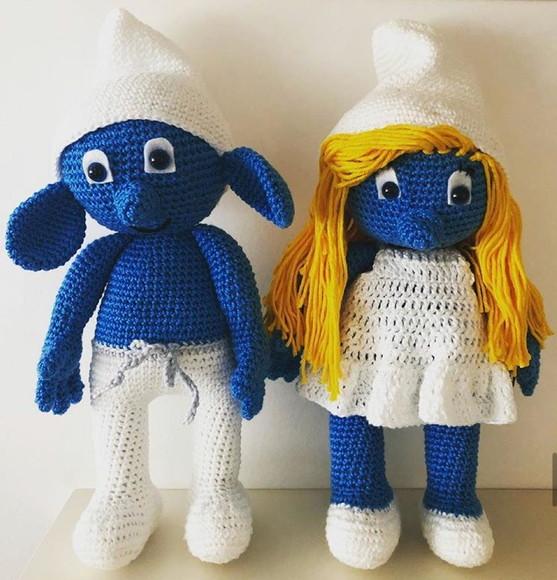 Crochet Smurfette amigurumi pattern | Bonecas de tricô, Bonecas de ... | 580x557
