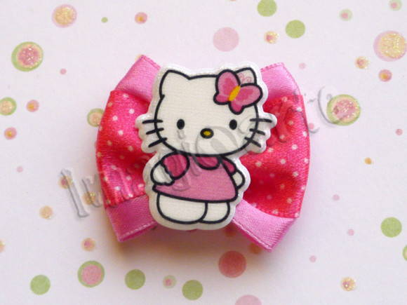 Laço Simples Rosa Hello Kitty