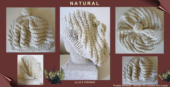 Gorro-boina: Natural - GR-016