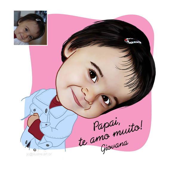 07292779f6d50b Lindinha caricatura digital de criança delicada menina