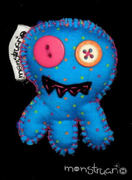 Broche Polvo Monstro Azul