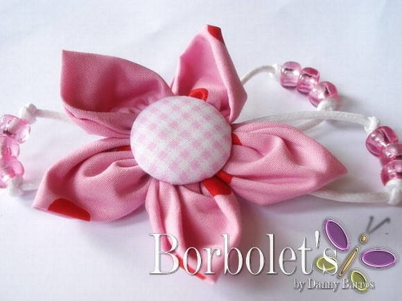 Broche - Yoyo flower