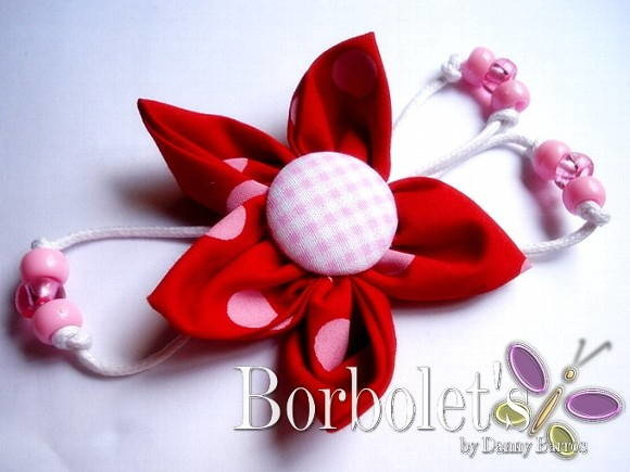 Broche - Red flower