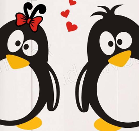 Adesivo Geladeira Pinguim Apaixonado-76
