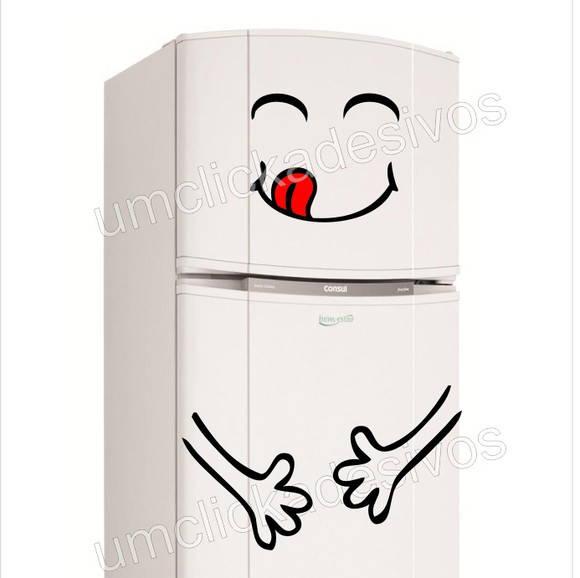 Armarios Fernando Mooca ~ adesivo geladeira feliz g115 Um click adesivos Elo7
