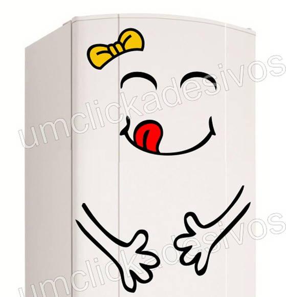 Armarios Fernando Mooca ~ adesivo geladeira feliz g116 Um click adesivos Elo7