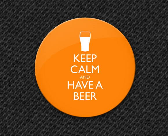 Botton Keep Calm and Have a Beer
