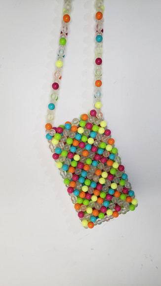 Bolsa de ombro colorida de miçanga Beaded Donna company
