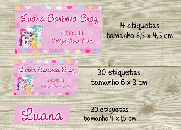 Kit adesivo material escolar My Little Pony