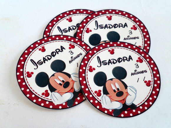 Adesivos do mickey 7 cm