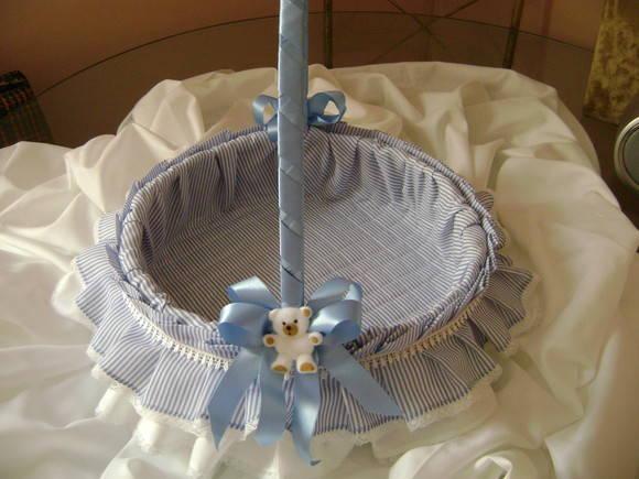 Cesta de beb costura com arte elo7 - Como forrar una cesta de mimbre ...