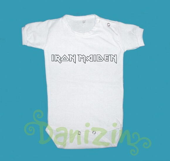 Body/T-Shirt Bebê e Infantil IRON MAIDEN