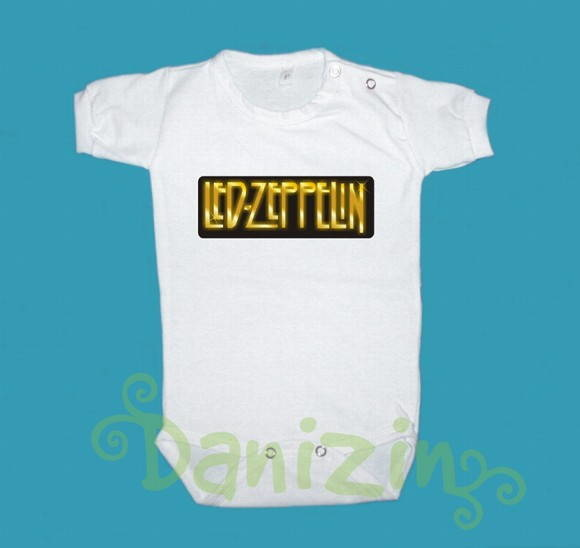 Body/T-Shirt Bebê/ Infantil LED ZEPPELIN