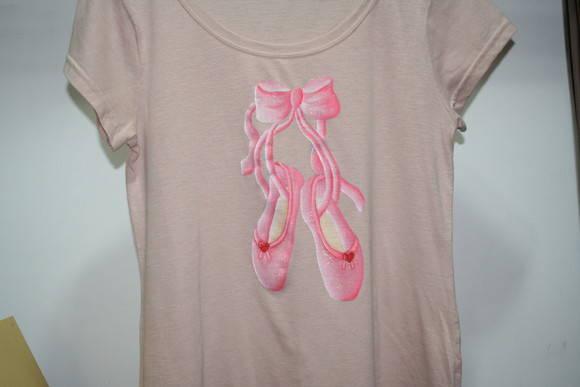8f1eb2faf7 Camiseta Sapatilha Ballet no Elo7 | diLuca Comércio (1A394F)
