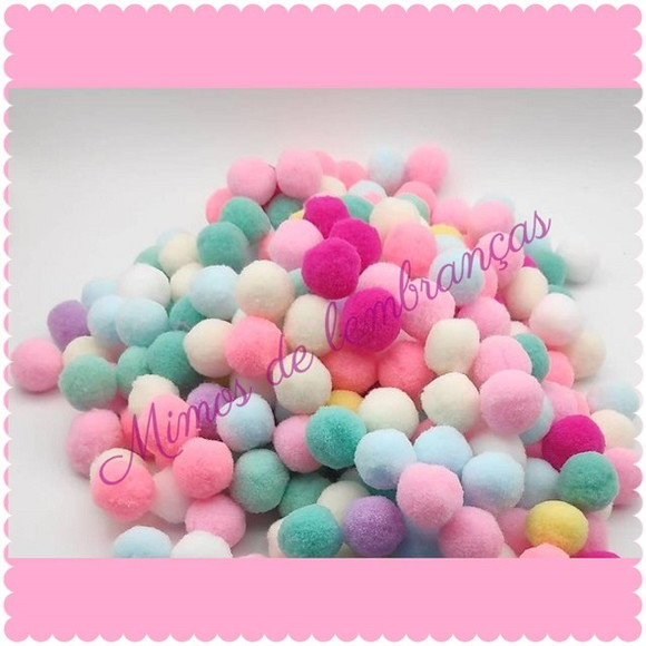 Pompom Candy Color 20mm - 100 Unidades