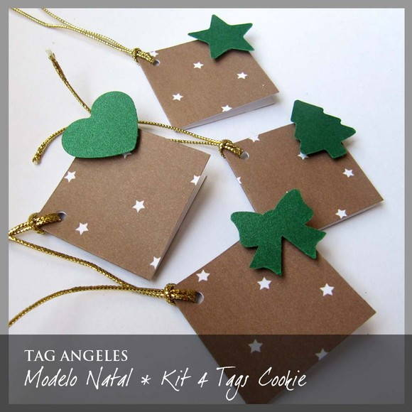 Kit 4 Tags Natal Cookie