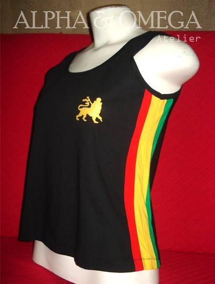 Camiseta Regata Reggae Artesanal PRETA no Elo7  202c27db4e0