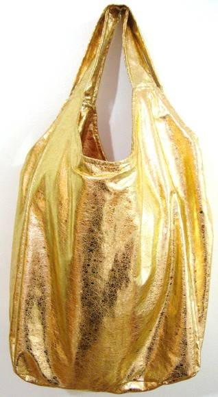 3549cf4be Bolsa sacola metalizada dourada no Elo7 | Boneca de Papel ! (1A7D50)