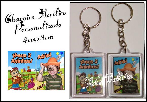 Chaveiro Acrílico Personalizado 4cmx3cm no Elo7   Arts Valeria ... 967758791c