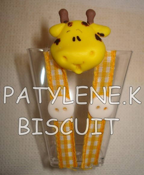 COPINHO DECORADO GIRAFA DE BISCUIT
