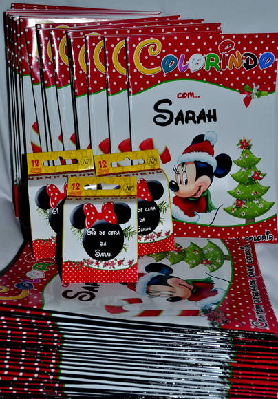 Revista Kit Colorir Minnie Natal