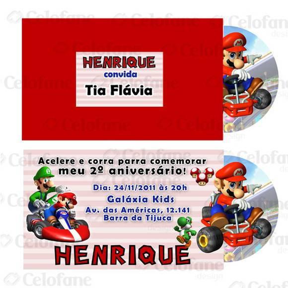 Convite Mário Kart No Elo7 Celofane Design 1ad451