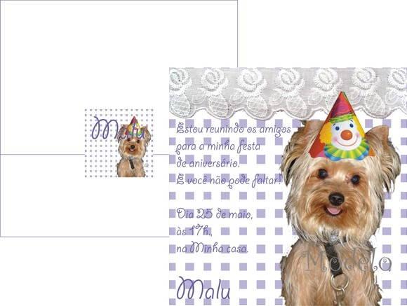 Convite De Aniversário De Cachorro No Elo7