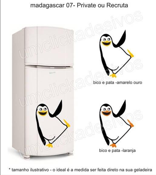Loja Artesanato Zona Sul ~ adesivo geladeira pinguim madagascar 7 no Elo7 Um click