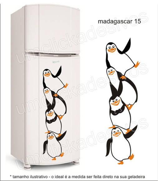 Loja Artesanato Zona Sul ~ adesivo geladeira pinguim madagascar 15 Um click