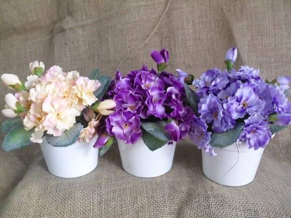 Resultado de imagem para vaso com violeta