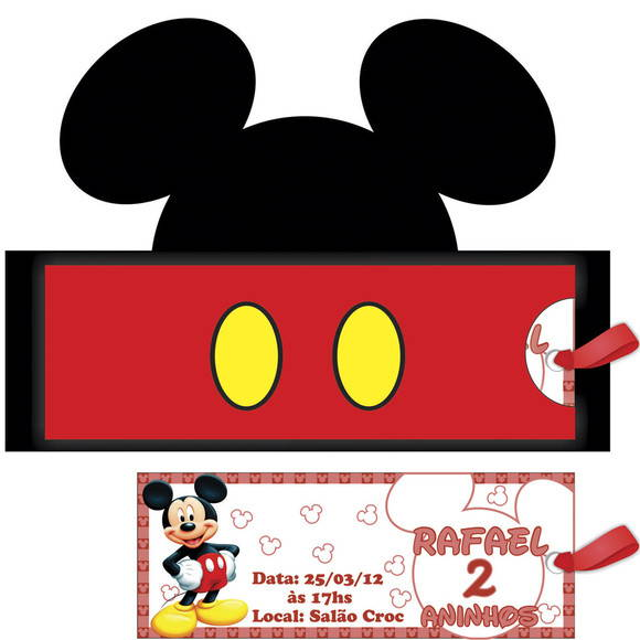 Convite Rosto Mickey No Elo7 Mimo Lembrancinhas 1b6407