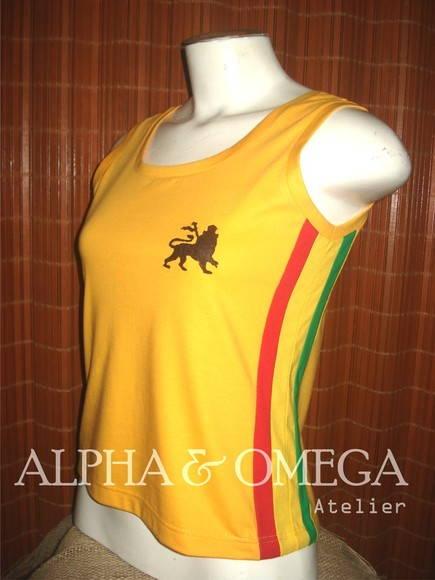 Camiseta Regata Reggae Artesanal AMARELA no Elo7  1f1a9e4c7a1
