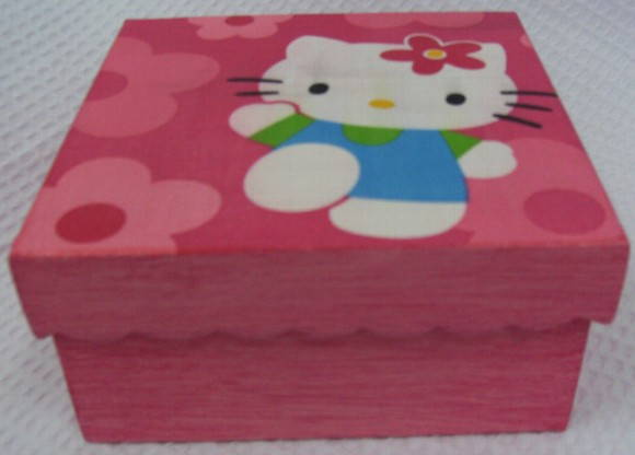 Caixa Rosa Hello Kitty