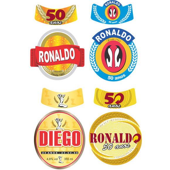 Muito Rotulo de Cerveja Personalizado 600ml no Elo7 | Mimo Lembrancinhas  TR43