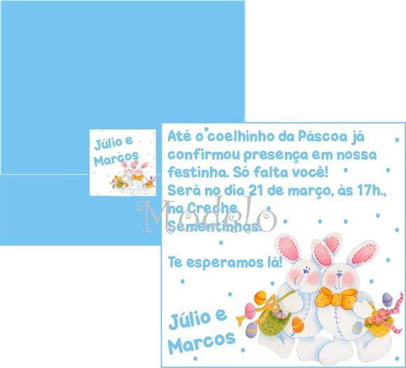Convite De Aniversário Páscoa