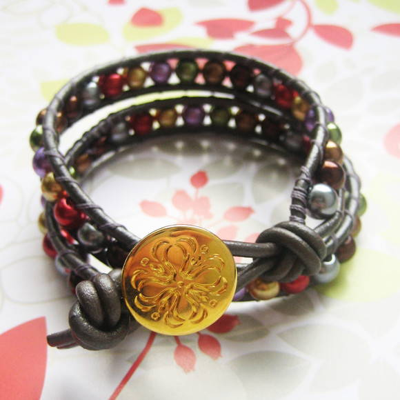 Pulseira Tribal Pérolas Color