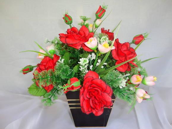 Arranjos Florais  Rosas  RITA FLOR  Arranjos e Decoração  Elo7 -> Decoracao De Banheiro Com Flores Artificiais